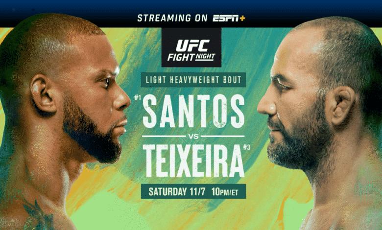 MMA News: Glover Teixeira, Thiago Santos
